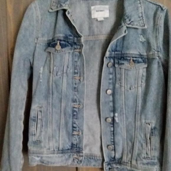 Jackets & Blazers - Old navy Distressed Denim Jacket